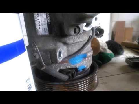 Замена компрессора кондиционера Toyota RAV4 `03