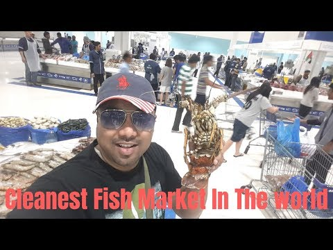 Cleanest Fish Market In The World Ever !!!