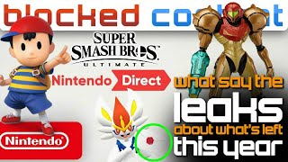 Based On The LEAKS: What's LEFT For SMASH ULTIMATE & Nintendo Directs THIS YEAR! - LEAK SPEAK!