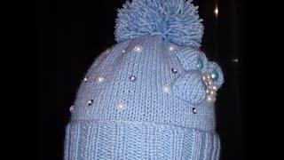 Вязаная детская шапочка!Вяжем вместе.Baby Beanie!knitting Шапка девочкам и мальчикам как украсите!(В этом видео я покажу как быстро связать красивую детскую шапочку,шапка для девочек и для мальчиков как..., 2015-10-23T12:43:30.000Z)