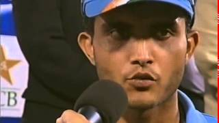 Sourav Ganguly Speaks & Collects Samsung Cup - Ind vs Pak - ODI's 2004