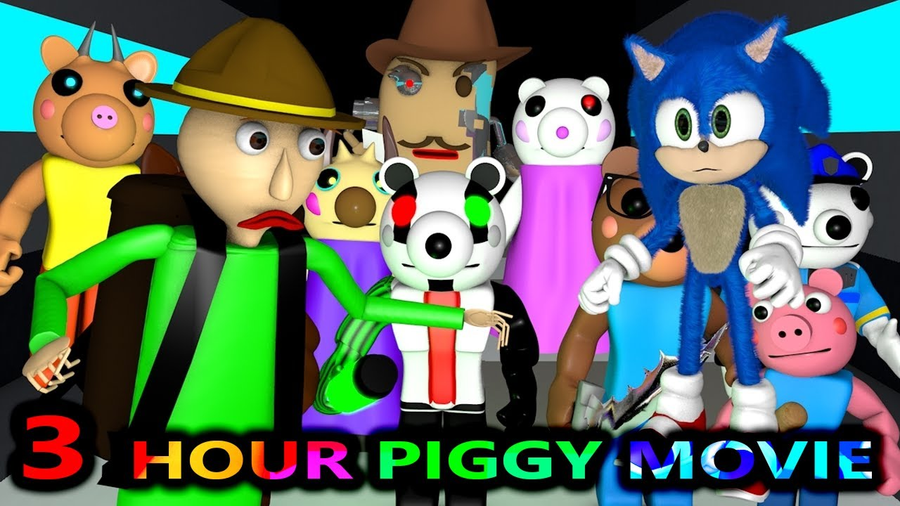 Download PIGGY vs SONIC & BALDI ROBLOX CHALLENGE OFFICIAL MOVIE! AMONG US (Horror Minecraft Animation Game)