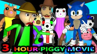 PIGGY vs SONIC & BALDI ROBLOX CHALLENGE OFFICIAL MOVIE! AMONG US (Horror Minecraft Animation Game)