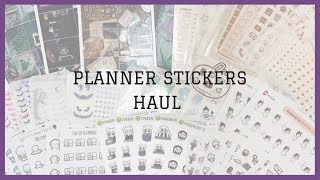 Chatty Sticker Haul || ft. Paper and Milk, Fox and Cactus, TCMC, etc.