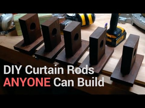 DIY Curtain Rods that ANYONE Can Build