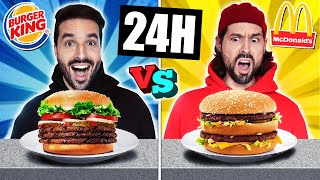 ON MANGE MCDO VS BURGER KING PENDANT 24H   CARL IS COOKING