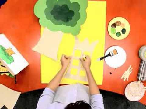 สอนศิลป์ตอนที่16 กรอบรูปต้นไม้