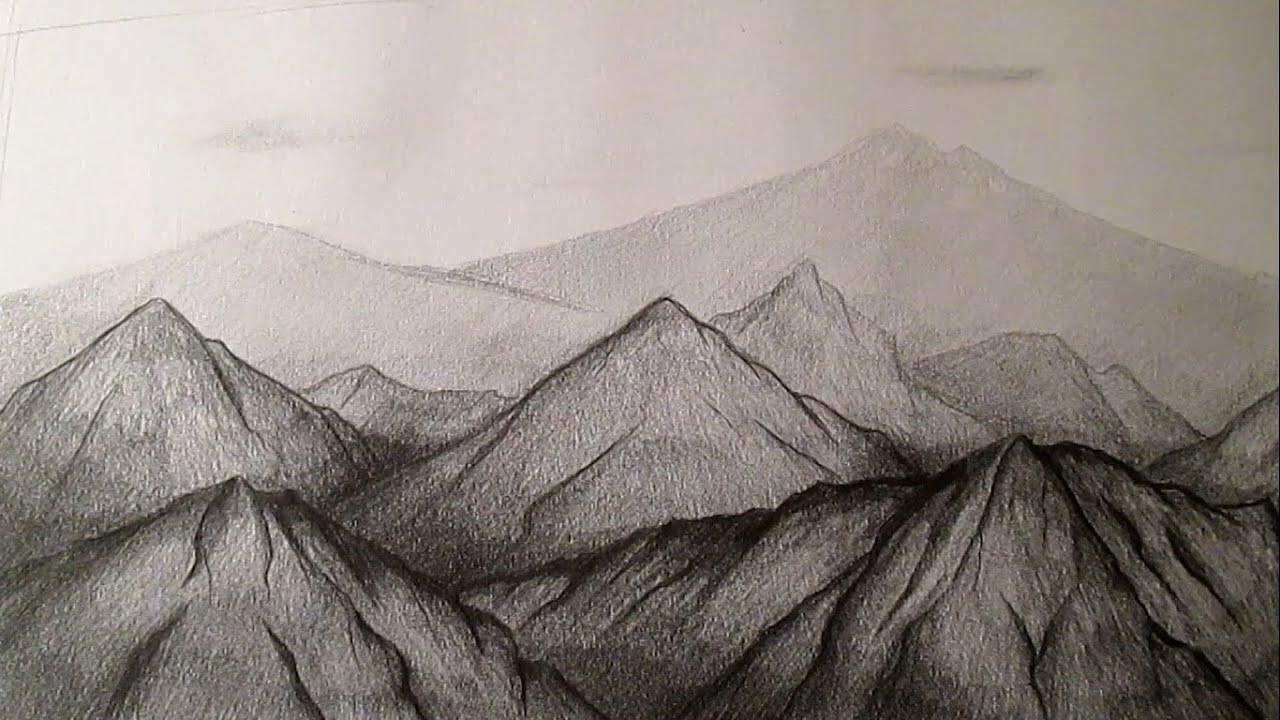 Cmo dibujar montaas a lpiz cmo dibujar paisajes a lpiz HD