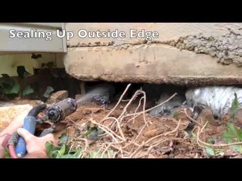 Void Filling Under Carport With Polyurethane Foam Youtube