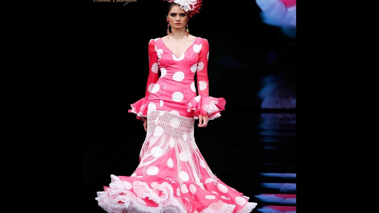 Traje de Flamenca Sevilla rosa fucsia lunares y flecos SIMOF Moda ...