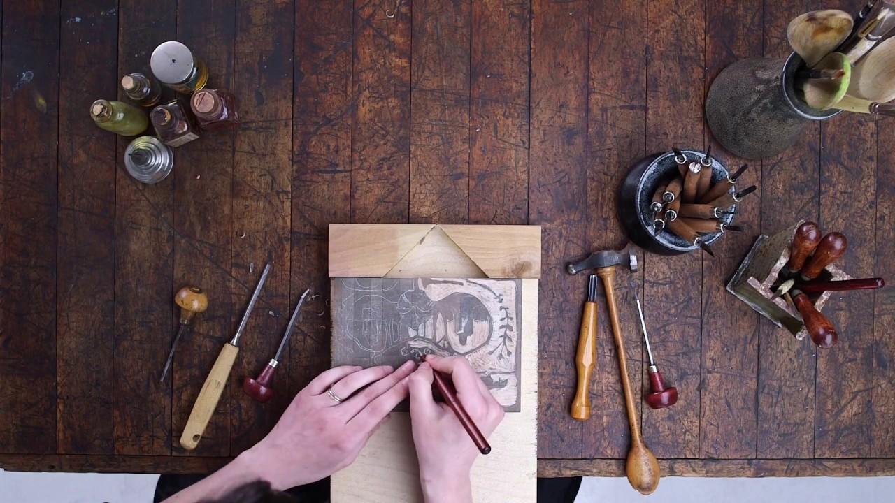 Gauguin's Process: Making Wood-Block Prints
