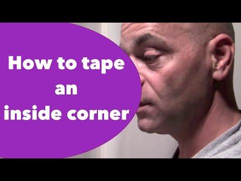 How to tape an inside corner - Sheet Rock