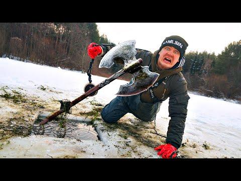 Мы подняли опасные жуткие находки со дна с помощью поискового магнита на озере викингов