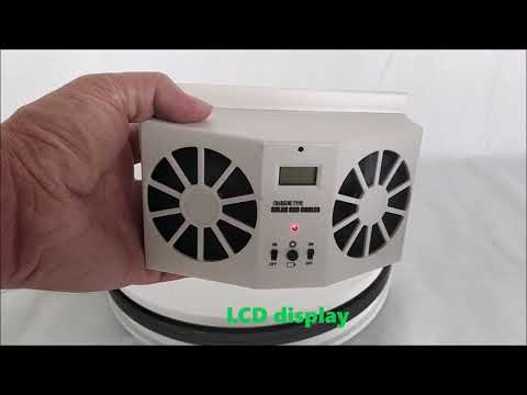 [English]Solar powered car cooler, solar energy DC fan for car cooling