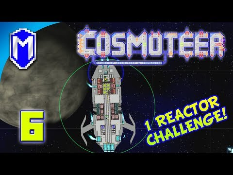 Cosmoteer - Light Plasma Missile Frigate - Lets Play Cosmoteer Mod 1 Reactor Challenge Gameplay Ep 6