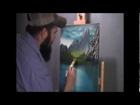 full length oil painting video - mountain view - wet on wet 2/300