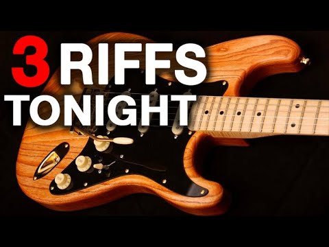 """Play THIS Tonight - """"The """"Holy Trinity"""" of RIFF Training (Blues, Rock, Country)"""