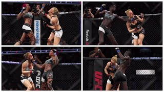 No Mercy for Ronda Rousey: Face Punching Brutality (EA UFC 2: Ryona Edition)