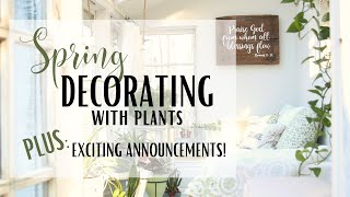 2020 Spring Shed ~ House Plants Tour ~ Decorating with Plants ~ Outside Spring Cleaning