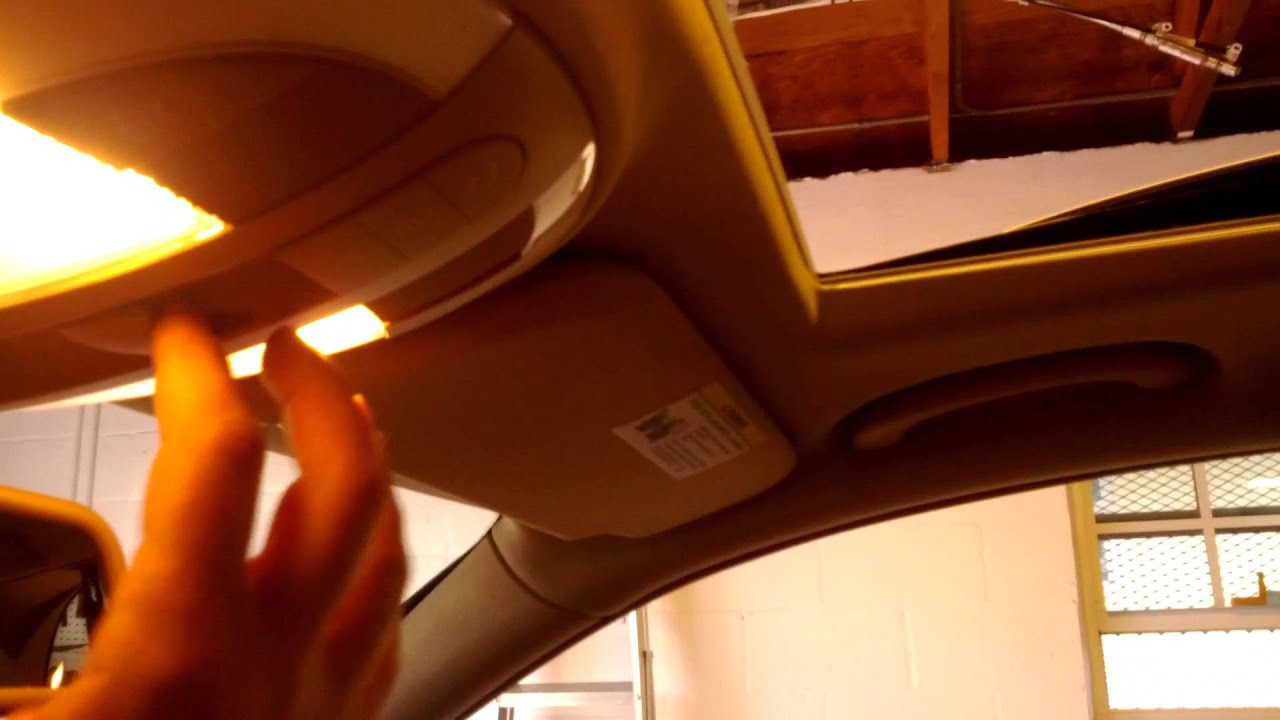 2009 Mercedes Benz E350 Wagon Sunroof Reset
