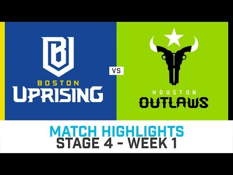 Match Highlights: Boston Uprising vs Houston Outlaws - Stage 4 Week 1