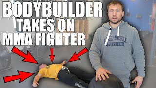 Bodybuilder does MMA Workout (You Won't Believe What Happened)