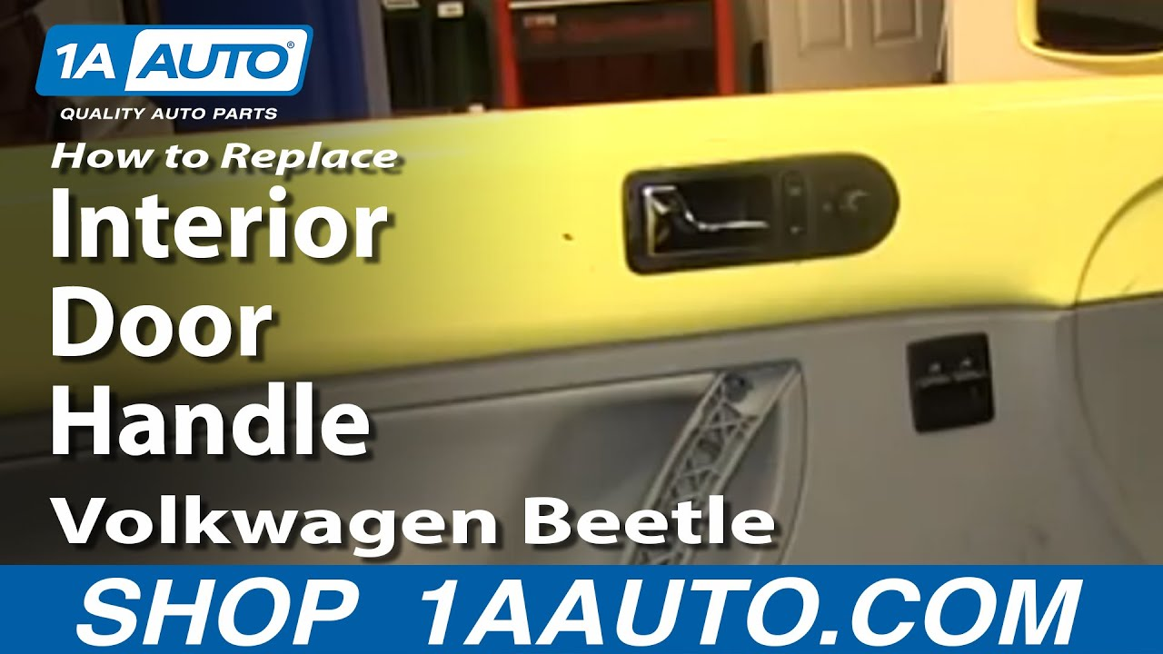 how to install replace interior door handle 2001 vw volkwagen beetle youtube. Black Bedroom Furniture Sets. Home Design Ideas