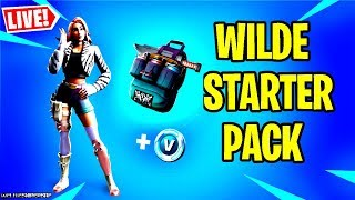 🔴 *NEW* FORTNITE WILDE STARTER PACK GAMEPLAY & NEW FORTBYTE LOCATION (BATTLE ROYALE LIVE)