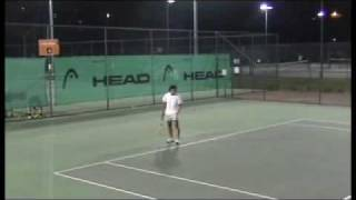 End of set, side view. Playing in mens comp for Fancutts Tennis Aca...