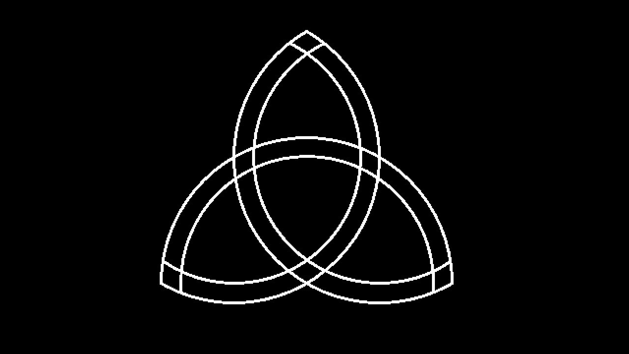 Draw A Trinity Knot In Ms Paint Youtube