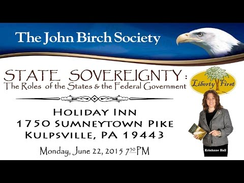 KrisAnne Hall State Sovereignty: The Roles of the States and Federal Government