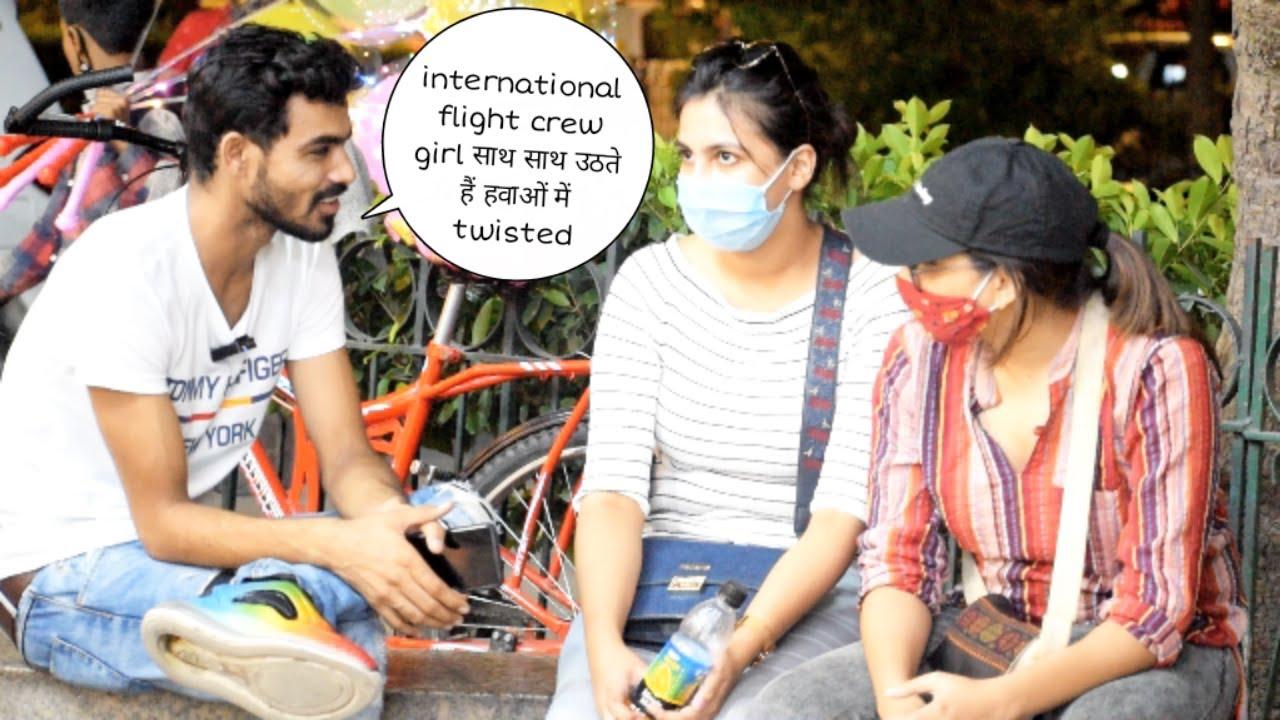 International flight crew girls साथ साथ हवाओ मे उडेगे twisted prank | Vivek golden