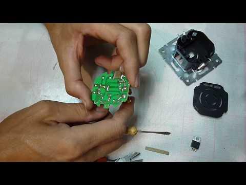 Ремонт диммера, он же выключатель света с регулятором яркости