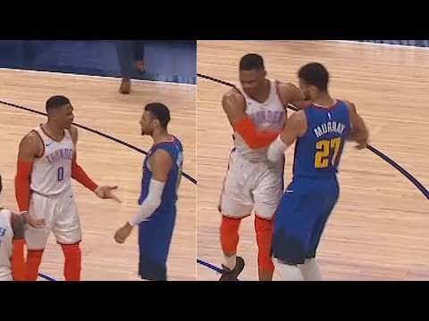 Russell Westbrook Wanna Fight Jamal Murray & Nikola Jokic After Shoving! Thunder vs Nuggets