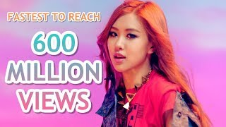 FASTEST K-POP GROUP MV TO REACH 600 MILLION VIEWS