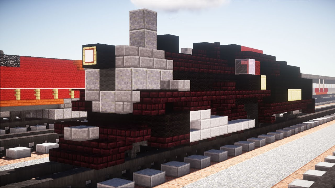 how to build a steam engine in minecraft