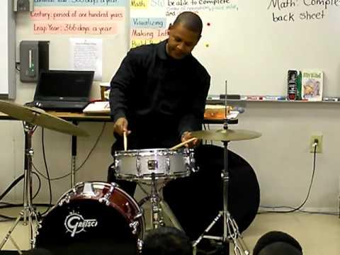 Life Enrichment Network - Ocie Davis - Jazz Drummer - Newell Elementary School