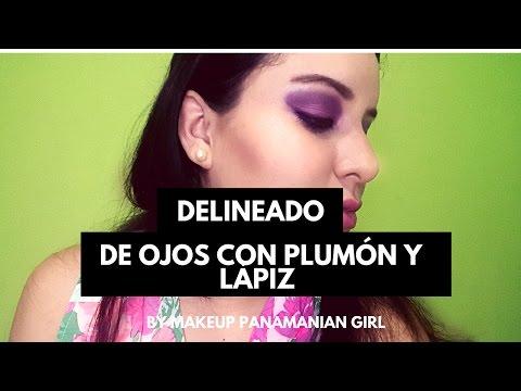 Delineando mis Ojos- Makeup Panamanian Girl
