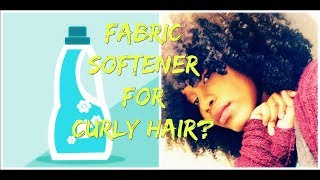 FABRIC SOFTENER FOR SOFTER HAIR??