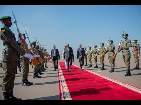 Arrival of Kenya's President Kenyatta in Rwanda For Working Visit