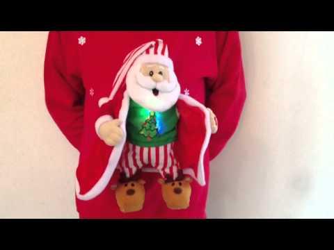 Christmas Jumper musical Flashing Santa