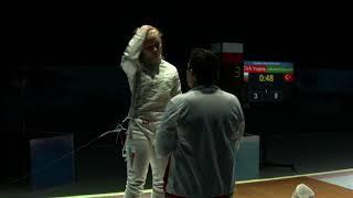 Deniz Selin Ünlüdağ Avrupa Eskrim Şampiyonası Final Maçı Full(Soçi 2018)