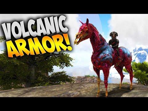 Ark: Survival Evolved - Volcanic Armor & More! (Modded Ark Pugnacia - Volcano Map) Stream Highlights