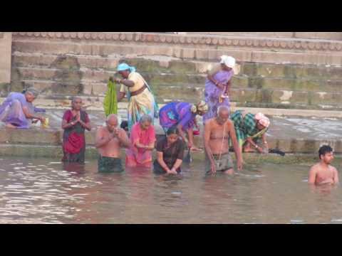 Ritual Bathing in Ganges, Varanasi, March 13, 2017