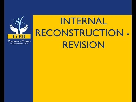 Internal Reconstruction By Iyer Sir | Accounts | Revision | TYBCOM TYBAF IPCC