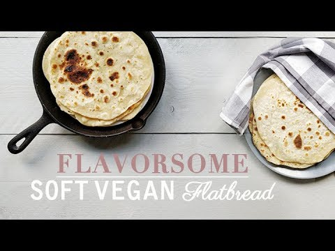 Flavorsome soft vegan flatbread | How to recipe