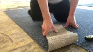 How to remove glued indoor outdoor carpet