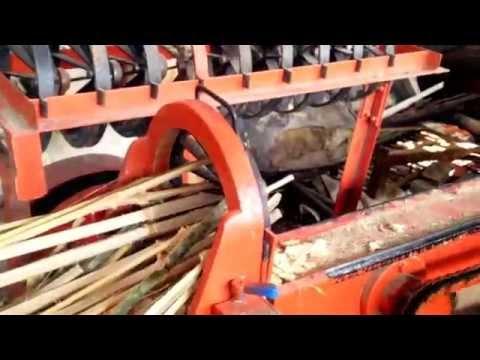 Mesin tusuk sate,pecah bambu