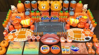 Series ORANGE FANTA Slime ! Mixing Random Things into CLEAR Slime! Satisfying Slime Videos #103