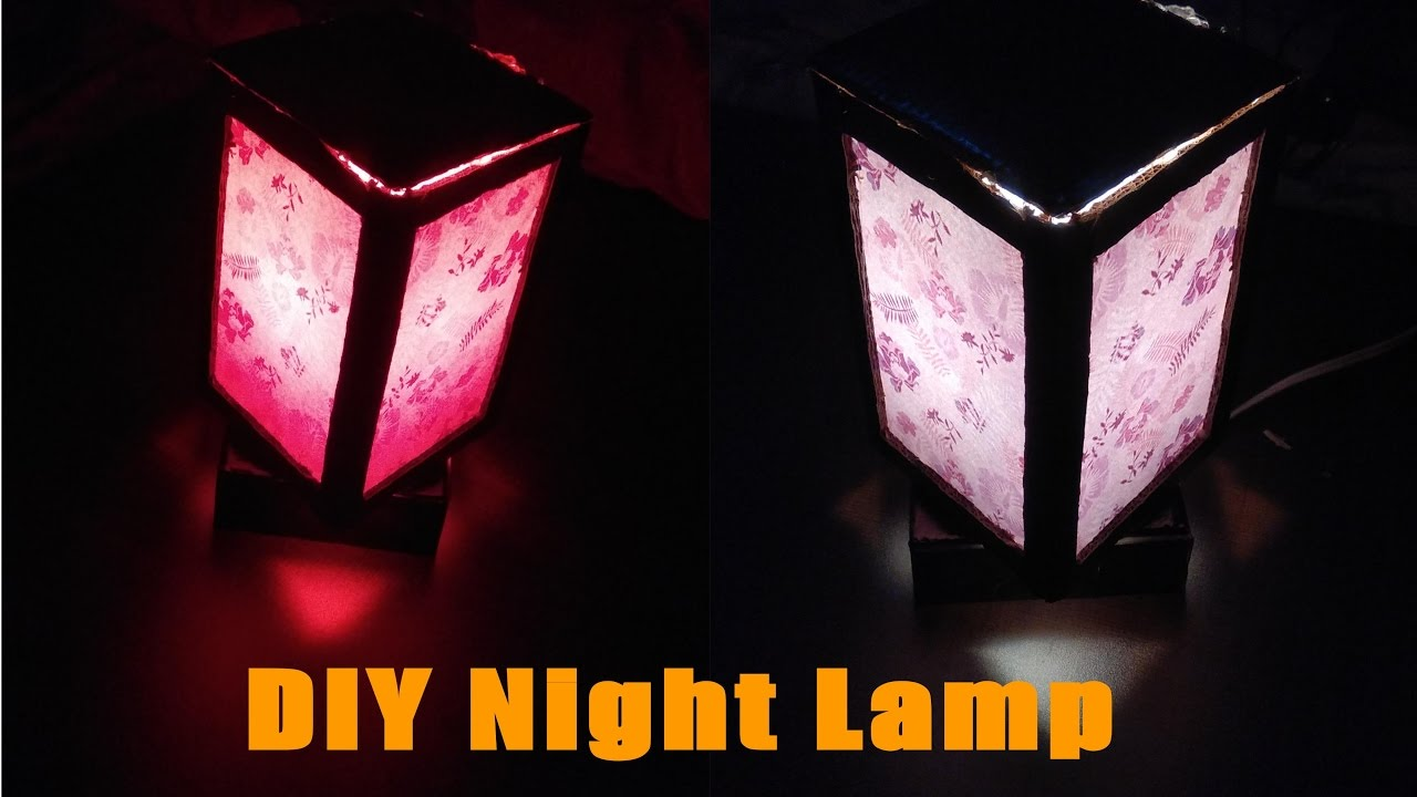 How To Make A Night Lamp || Easy DIY Homemade LED Night Lamp ||  Step By Step Night Lamp Tutorial